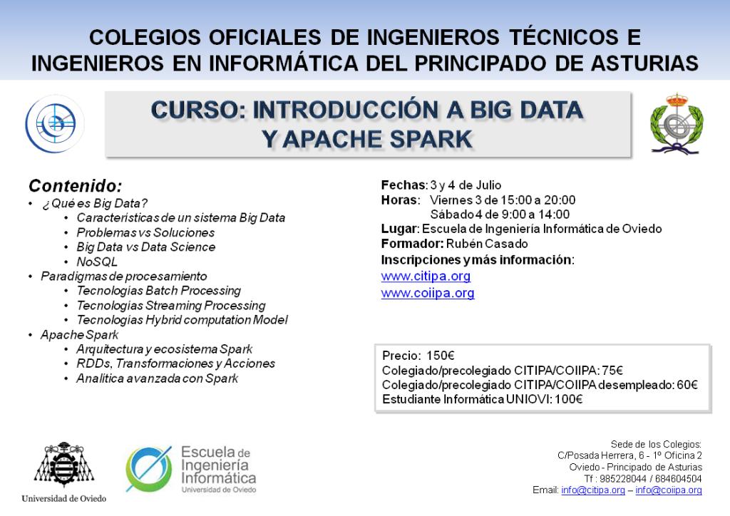 20150623-Curso introduccion BigData y ApacheSpark-CITIPA-COIIPA